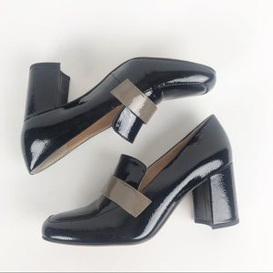 "Franco Sarto ""Karter"" Patent Leather Block Heels 8"